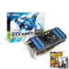MSI N660Ti-2GD5/OC V1 NVIDIA GTX 660Ti 2GB DDR5 PCI-E Graphics Card