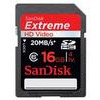 Sandisk 16GB Extreme HD Video 45MB/Sec SDHC Card