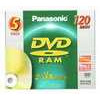 Panasonic 3x speed, 4.7GB, 5 pack DVD-RAM Disc