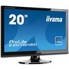 Iiyama ProLite E2078HSD (20 inch) LED Backlit LCD Monitor 1000:1 250cd/m2 (1600x900) 5ms D-Sub/DVI-D/Headphone (Black)