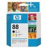HP 88 Black and Yellow Inkjet Cartridge (Yield 41,500)