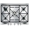 Smeg SR275XGH Cucina 70cm Stainless Steel 5 Burner Gas Hob with Cast Iron Pan Stands and New Style Controls