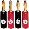 Fisual Easy Fix Banana Plugs 24K Gold Plated - 10 Pack