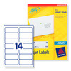Avery J8163 - 25 - Box of 25 Sheets Labels Inkjet 99.1 x 38 mm, 1 Unit