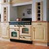 Rangemaster Classic 110 Electric Ceramic Range Cooker - Black & Chrome, Black