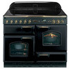 Rangemaster Classic 110 Induction Black brass 110cm Ceramic Range Cooker
