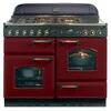 Rangemaster Classic 110 Dual Fuel Range Cooker - Cranberry & Chrome, Cranberry