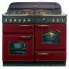 Rangemaster Classic 110 Dual Fuel Range Cooker - Cranberry/Chrome