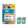 HP 344 - Print cartridge - 1 x colour (cyan, magenta, yellow) - 450 pages - blister with RF alarm