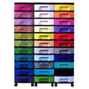 Really Useful Boxes Really Useful Box storage unit clear tower with 33 x 7-litre blue drawers